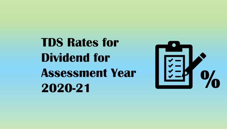 TDS Rates for Dividend